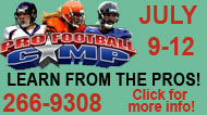 Pro Football Camp Ad
